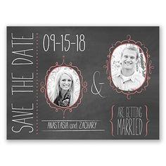 Flirty Frame Chalkboard - Save the Date