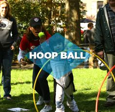 Get outside and dream up a fun backyard game.  You could win a $10,000 scholarship! www.clifkidbackyardgame.com    Hoop Ball - Kids have a ball with the hula hoop as the moving target.