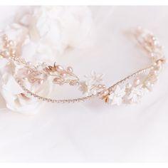 Layla bridal headpiece by Jonida Ripani #bridalheadpiece #bridalcrown