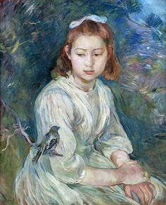 """One of """"les trois grandes dames"""" of Impressionism alongside Marie Bracquemond and Mary Cassatt, French painter Berthe Morisot was a painter and a member of the circle of painters in Paris who became known as the Impressionists. Pierre Auguste Renoir, Edouard Manet, August Renoir, French Impressionist Painters, Renoir Paintings, Portrait Paintings, Berthe Morisot, Mary Cassatt, Camille Pissarro"""