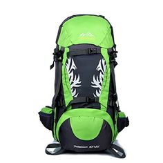 Aibag Water Resistant Nylon Hiking Camping Backpack(45L + 5L)