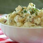 Duitse aardappelsalade     Aardappelgerechten  4 porties   In 15 minuten klaar (Voorbereiden:20 minuten)
