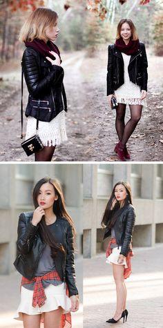 Styling a Black Moto Jacket!!! #fall #jacket #moto