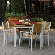 Have to have it. Oxford Garden Travira Teak Patio Dining Set - Seats 6 - $2327.5 @hayneedle.com