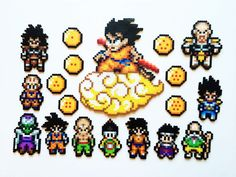 The Dragonball Z Perler Sprites Goku Tree by ShowMeYourBits - Visit now for 3D Dragon Ball Z compression shirts now on sale! #dragonball #dbz #dragonballsuper