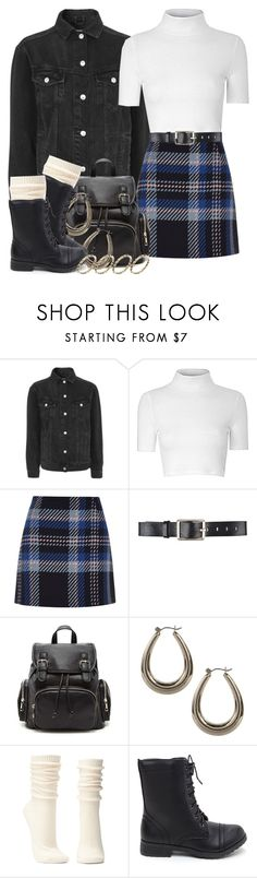 """""""90's 7 12 17"""" by miizz-starburst ❤ liked on Polyvore featuring Topshop, Glamorous, River Island, Belstaff, Forever 21, Boohoo, Charlotte Russe and ASOS"""
