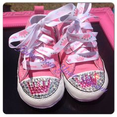 Princess Crystal Rhinestone Converse  by PurseSueYourDream on Etsy, $40.00 Princess birthday