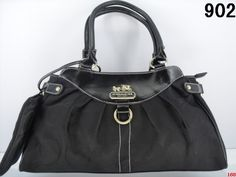 Coach Handbag - All Black with a Coin Purse