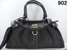 Coach Handbag - All Black with a Coin Purse
