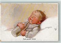 Fialkowska, W. Baby mit Milchflasche