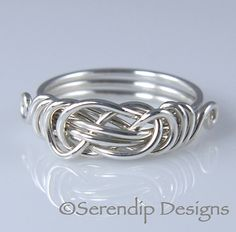 Sterling Silver Knot Ring in Your Size by SerendipDesignsJewel, $24.00