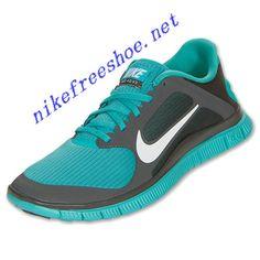 premium selection bde27 30418 Nike Free 4.0 V3 Mens Midnight Fog White Sport Turquoise 579958 013 Cheap  Running Shoes,