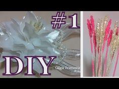 Цветок канзаши flower kanzashi - тычинки для маленькой лилии Ч.1 - YouTube