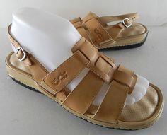 Softwalk Lotus Sandals 7.5 W Brown Tan Open Toe Sling Backs Retail $109 Casual #Softwalk #Slingbacks #Casual