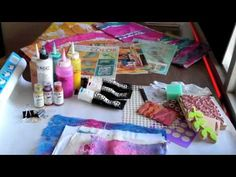 Stamp and dye fabric with Acrylic Paints, filmed at the Houston Quilt Fe...