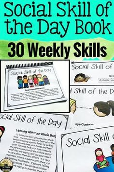 Social Skill Lesson – Social Skill of the Day Book Social Skill Lesson – Social Skill of the Day Book,Social Skills Education Related posts:Positive Self Talk Activities For Coping Skills, Self Esteem And Growth. Social Skills Lessons, Teaching Social Skills, Social Emotional Learning, Learning Skills, School Lessons, Coping Skills Activities, Counseling Activities, Therapy Activities, Social Activities