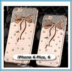 iPhone 6 Plus, 6 - Crystal Clear With Rhinestone Gems Case in Assorted Colors - Thumbnail 1