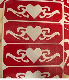 heart #tribal #armband #glitter #tattoo #stencil #mirae #theclassyclown #FacepaintMall #chicagoFacePainter tramp stamp Glitter Tattoo Stencils, Tribal Armband, Balloons, Stamp, Tattoos, Heart, Fun, Painting, Globes