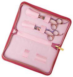 The #OliviaGarden #SilkCut Breast Cancer Awareness #shears case. #BeautyTools #BCA