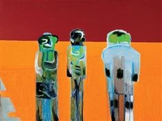 """Robert Hodgins - """" Two Sculptors and a Collector """""""
