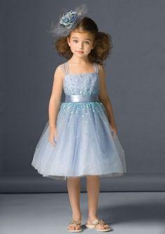 love~love~Princess Straps Knee-length in Tulle Flower Girl Dress
