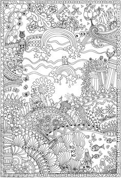Creative Haven Insanely Intricate Entangled Landscapes Coloring Book @ Dover Publications
