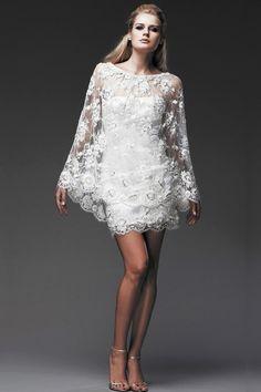 Flore by Ana Quasoar short white wedding dress