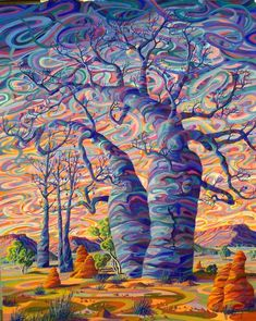kimberley art heading out is part of Visionary art - Kimberley Art Heading Out Coolart Trippy Art Painting, Psychedelic Art, Fine Art, Abstract Landscape, Amazing Art, Tree Art, Art, Abstract, Landscape Art