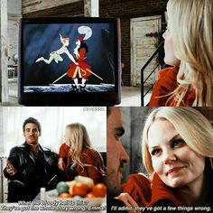 Hook and Emma watching Peter Pan Cr: Csvessel