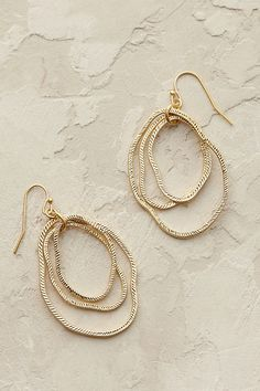 Bethany Hoop Earrings - Gold, at Anthropologie.