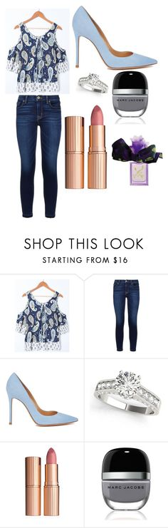"""""""Sans titre #5333"""" by yldr-merve ❤ liked on Polyvore featuring Hudson, Gianvito Rossi, Charlotte Tilbury, Marc Jacobs and Vera Wang"""