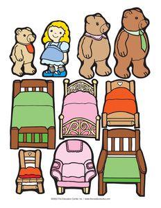 goldilocks and the three bears clip art clipart vector art rh pinterest com Goldilocks and the Three Bears House Clip Art goldilocks and the three bears clipart free
