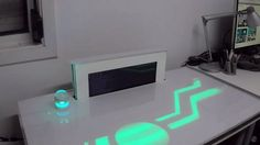 PiDesk: Frederick Vandenbosch's Raspberry Pi-controlled futuristic desk.