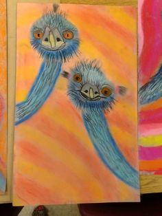 Edward and Edwina the Australian Emus Australian Art For Kids, Australian Animals, Nativity Crafts, Book Crafts, Art Activities For Kids, Kindergarten Art, Emu, Art Classroom, Art Club