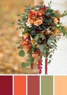 Fall Wedding Color Palettes Inspired by Seasonal Florals