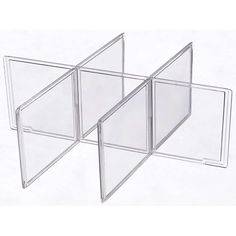 A set of Small Plastic Drawer Dividers are an efficient solution for organizing socks undergarments intimate apparel or clothing accessories in a Small Stacking Clothing Storage Drawer.  These clothing drawer dividers slide and lock into place to provide six divided compartments for convenient storage and organization  $7.99
