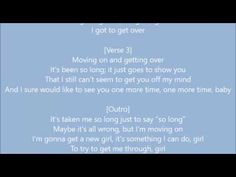 John Mayer - Moving On and Getting Over Lyrics