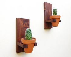 Rustic wall hanging planters set clay pots for succulents wall mounted terracotta indoor planter pot wall planter outdoor set Rustic wall hanging planters set clay pots for succulents wall Wooden Planters, Indoor Planters, Hanging Planters, Planter Pots, Wall Planters, Wall Hanging Plants Indoor, Cedar Planters, Wood Planter Box, Herb Planters
