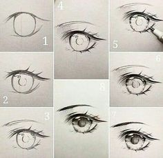 curtidas, 24 comentrios - Ivy s diary (ivyesre) no (Anime eye drawing tutorial step by step.) The steps thats going to be explained, goes in order Portrait Drawing, Anime Eye Drawing, Art Drawings, Anime Eyes, Eye Drawing Tutorials, Anime Drawings Tutorials, Art Tutorials, Anime Drawings, Cool Drawings