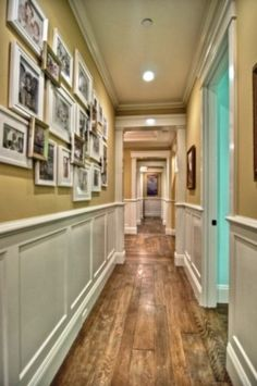 wow, love the turquoise room off the hallway!