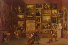 Samuel F. B. Morse, Gallery of the Louvre, 1831-33, Oil on canvas, 73 ¾ x 108 in., Terra Foundation for American Art, Chicago, Daniel J. Terra Collection, 1992.51.© Yale University Art Gallery, 2011