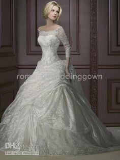 wedding dress - w/ opaque sleeves