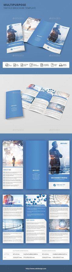 tri fold brochure size
