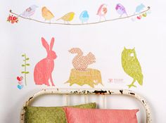 Reusable, vinyl-free fabric wall stickers by (love) mae