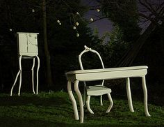 fairytale crafted furniture objects - formed wood.