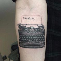Typewriter Font Tattoos