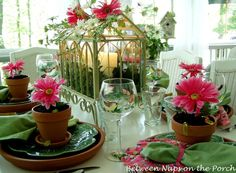 Party Table Settings Perfection Loveliest Add An Event. Beautiful Party Table Setting Design featuring Pink Ornamental Flower Plant and Cute Glass Wine Picture Beautiful Table Settings, Garden Theme, Party Garden, Garden Parties, Garden Club, Garden Wedding, Decoration Table, Tea Party, Flower Pots