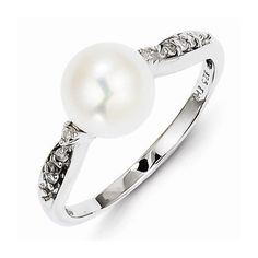 925 Sterling Silver Colored w/ White Gold Diamond and FW Cultured Pearl Engagement Wedding Ring (.08 cttw.) (2mm) by Sonia Jewels http://blackdiamondgemstone.com/colored-diamonds/jewelry/wedding-anniversary/engagement-rings/925-sterling-silver-colored-w-white-gold-diamond-and-fw-cultured-pearl-engagement-wedding-ring-08-cttw-2mm-com/
