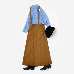 今週は雨が多くなりそうですが気温も落ちついて秋の服を着たくてうずうずしていた方はそろそろ活躍の兆し雨が何だの意気込みで着ちゃいましょう  さて最近なぜか少しキレイめな正装を探されている方が多い堅苦しい集まりでなければワンピースよりも後々使いまわしできるパンツにジャケットといった大人コーデをお勧めすることも多いのですがきょうはそんな時のコーデをご紹介します  おとといも使ったサスペンダーパンツの色違いですがクラシック回帰の流れもあり注目したいアイテムのひとつサスペンダーはオフィシャルなシーンの正装としても使えたりしますもちろんカジュアルにも対応し幅広く対応するアレンジ幅の広さが嬉しい靴や小物次第で印象も変わる注目アイテムです