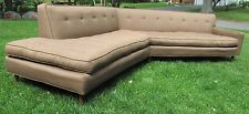 Vtg 1960's Harvey Probber Style 12ft Sectional Tuxedo Sofa Mid Century Modern